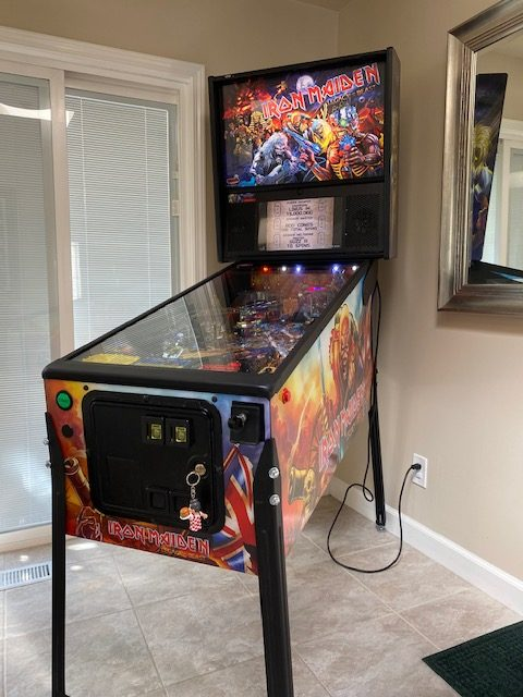 Iron Maiden pinball machine rental.